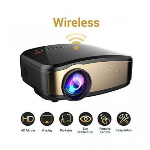 Cheerlux C6 WiFi Wireless Mini LED TV Projector
