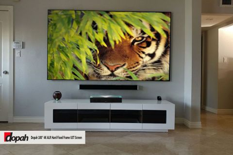 "Dopah 100"" 4K ALR Hard Fixed Frame UST Screen"