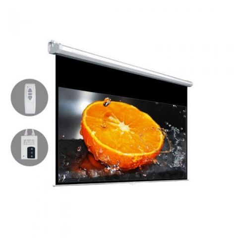"Dopah Motorized Projection Screen 106""D (51.9"" X 92.4"") - High Contrast Gray"
