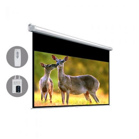 "Dopah Motorized Projection Screen 119""D (58.3"" x 103.7"") - High Contrast Gray"