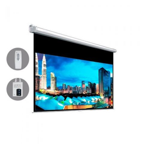 "Dopah Motorized Projection Screen 133""D (65.2"" X 115.9"") - High Contrast Gray"