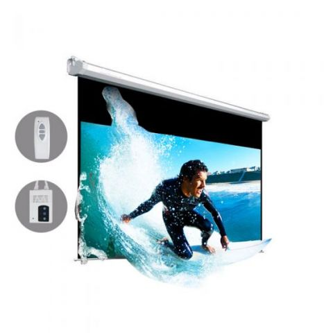 "Dopah Motorized Projection Screen 92""D (45.1"" x 80.2"") - High Contrast Gray"