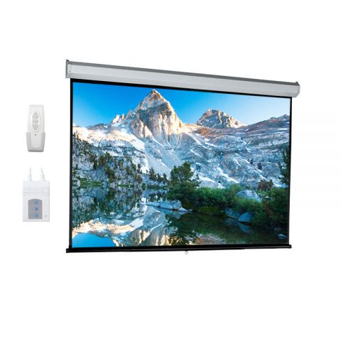 "Dopah Motorized Projection Screen 84"" x 84"""