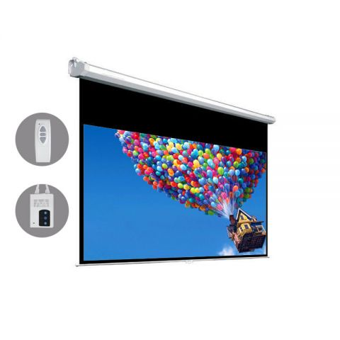 "Dopah Motorized Projection Screen 151""D (73.1"" x 131.6"" ) - High Contrast Gray"