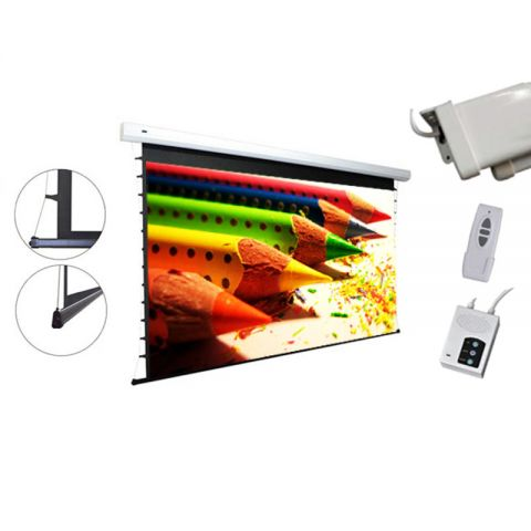"""Dopah Tab-Tension Motorized Projection Screen 119""""D (58.8"""" x 104.6"""")"""